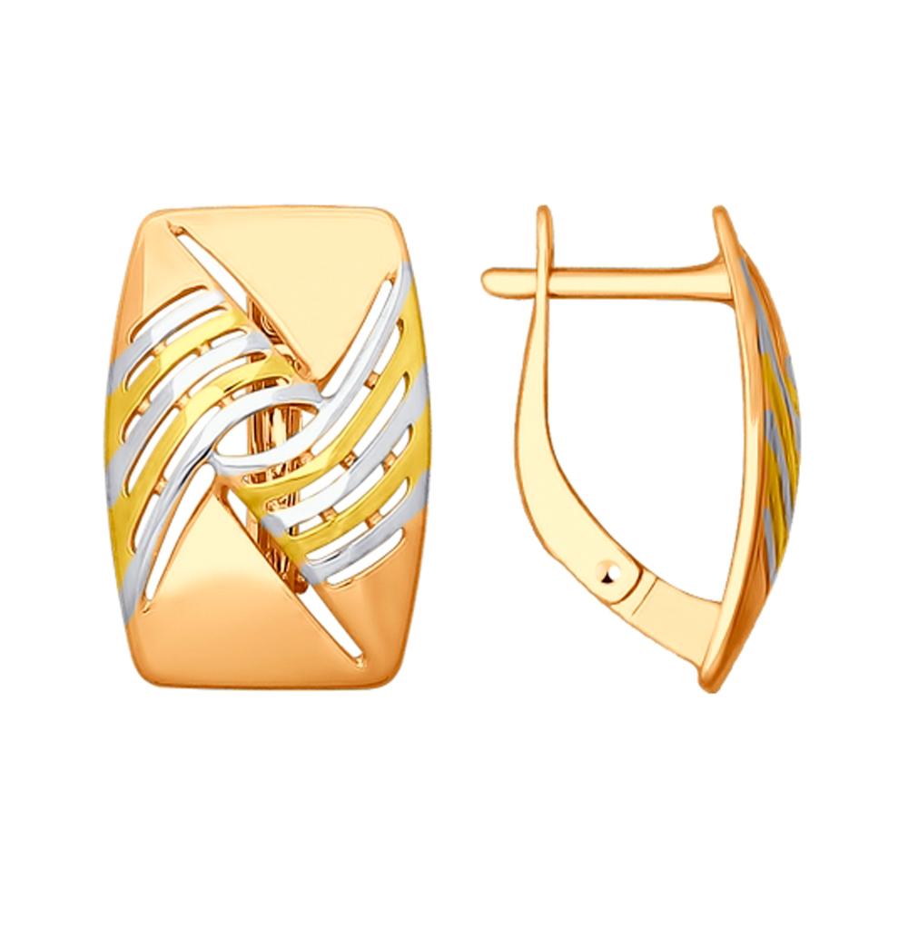 Золотые серьги SOKOLOV 027933 в Санкт-Петербурге