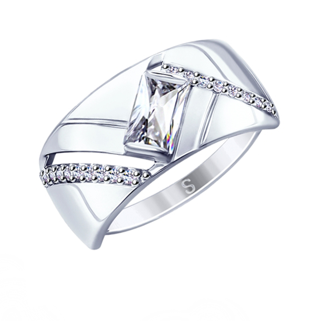 Фото «Серебряное кольцо с фианитами SOKOLOV 94012688»