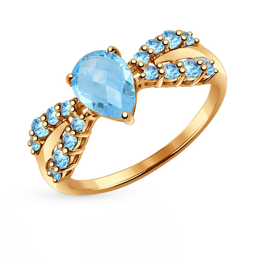 Фото «Золотое кольцо с топазами SOKOLOV 714354*»