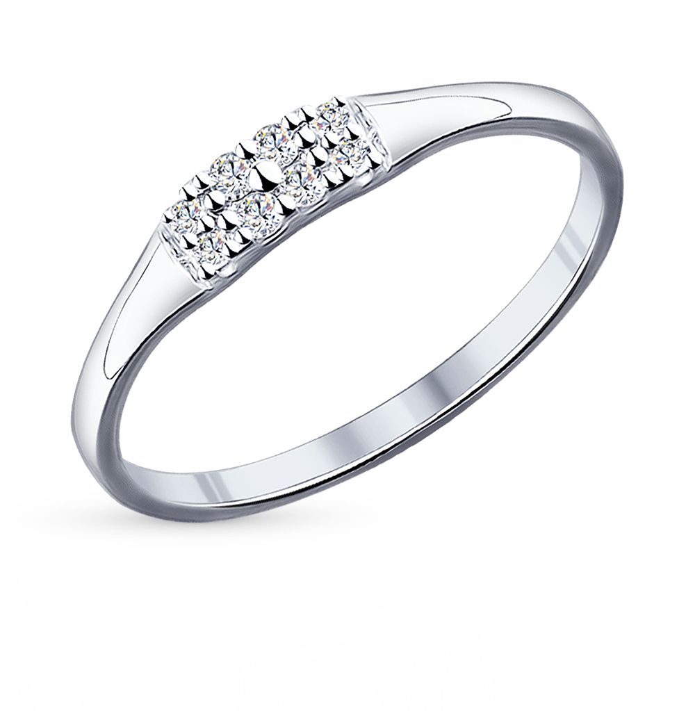 Фото «Серебряное кольцо с фианитами SOKOLOV 94011714»