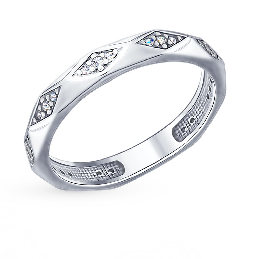серебряное кольцо с фианитами SOKOLOV 94012400