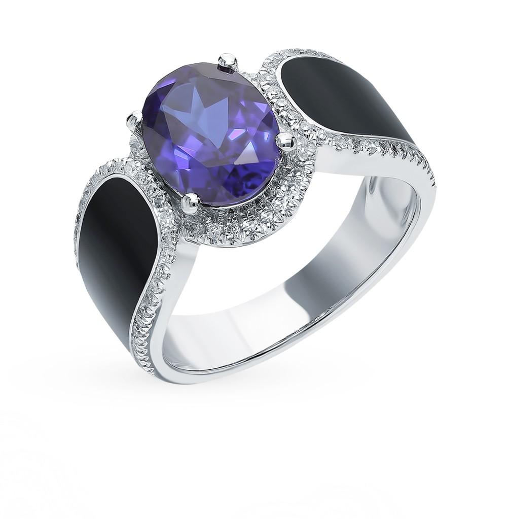 Фото «Золотое кольцо с сапфиром, эмалью и бриллиантами»
