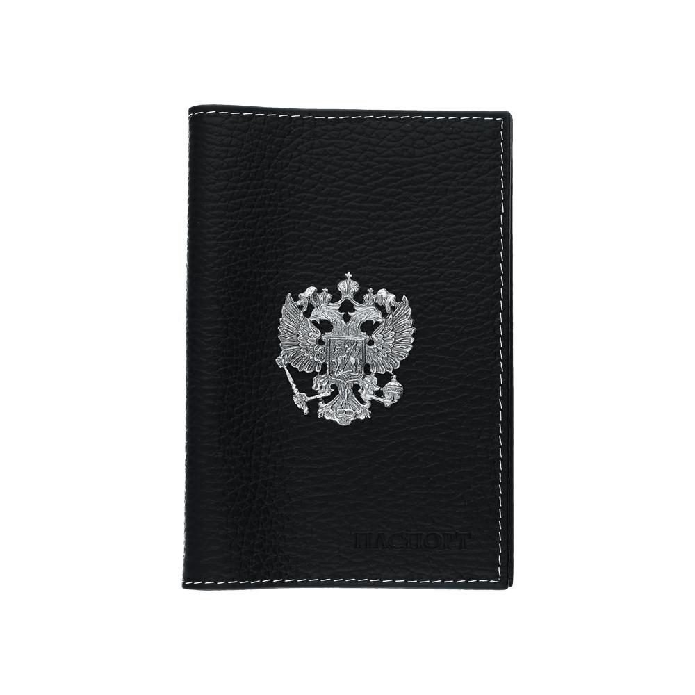 Фото «Кожаная обложка для паспорта с серебром»