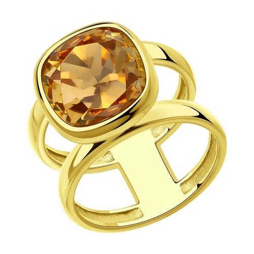 Фото «Серебряное кольцо с кристаллами swarovski SOKOLOV 93010847»