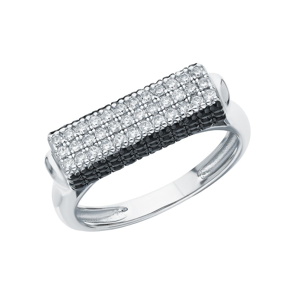 Фото «Серебряное кольцо с нанокристаллами и фианитами»