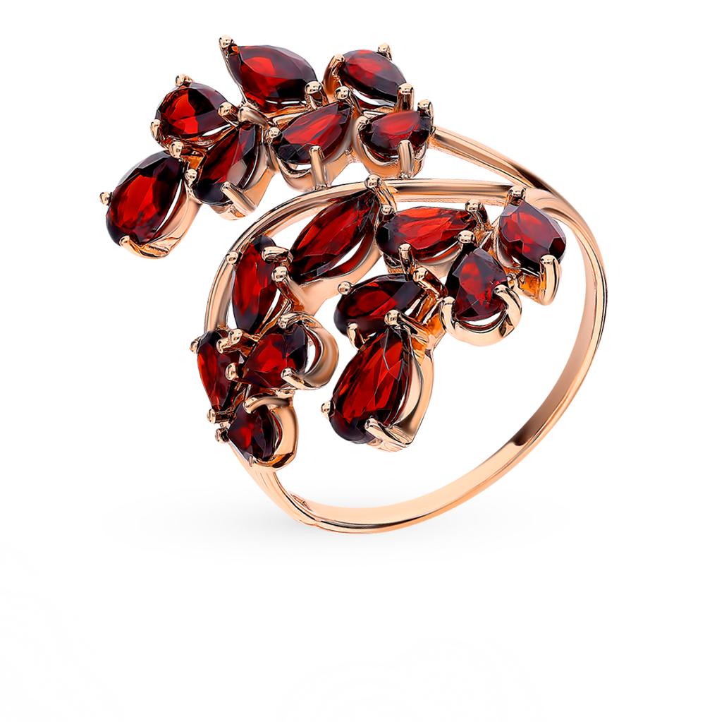 золотое кольцо с гранатом SOKOLOV 715589*