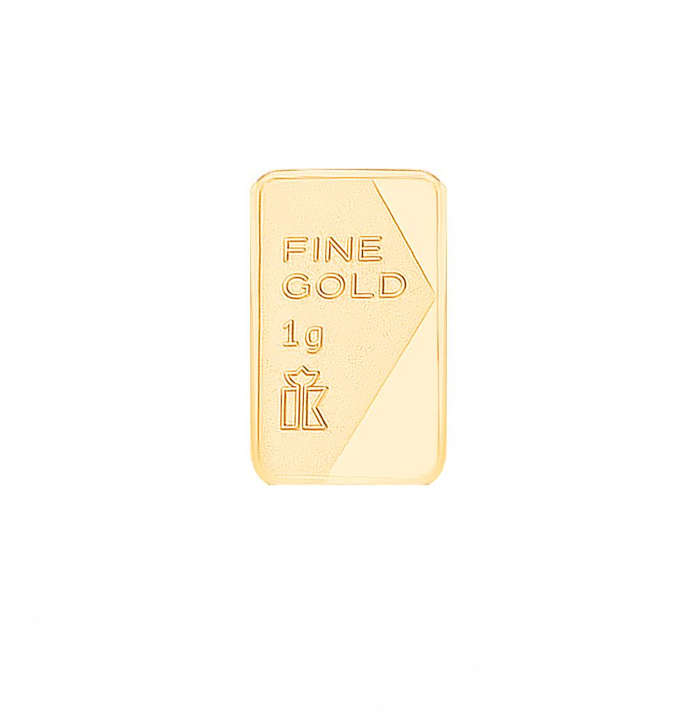 Золотой слиток 999 пробы, 1 грамм в Санкт-Петербурге