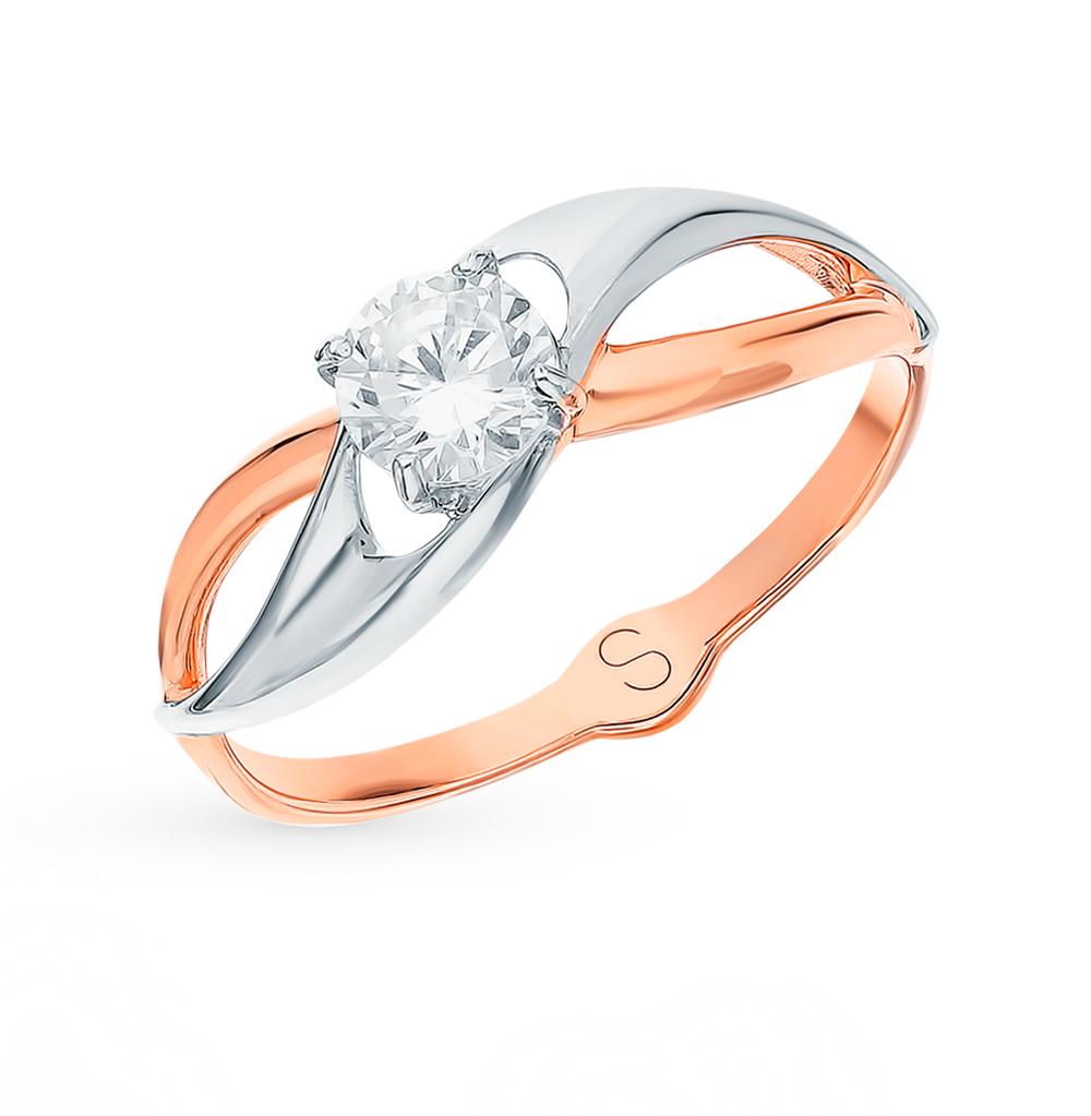 золотое кольцо с фианитами SOKOLOV 017919*