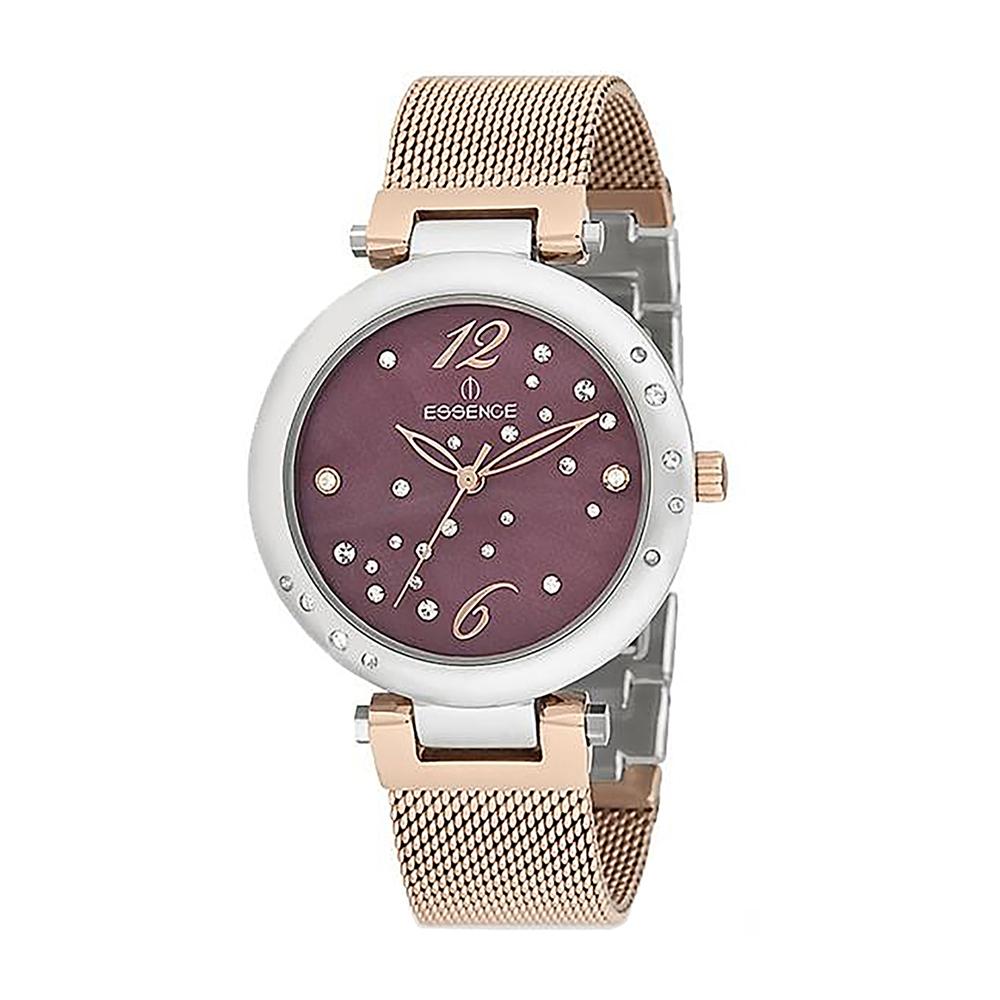 Фото «Женские часы ES6362FE.580 на стальном браслете с частичным розовым IP покрытием с минеральным стеклом»