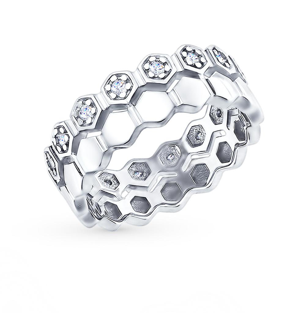 серебряное кольцо с фианитами SOKOLOV 94012415