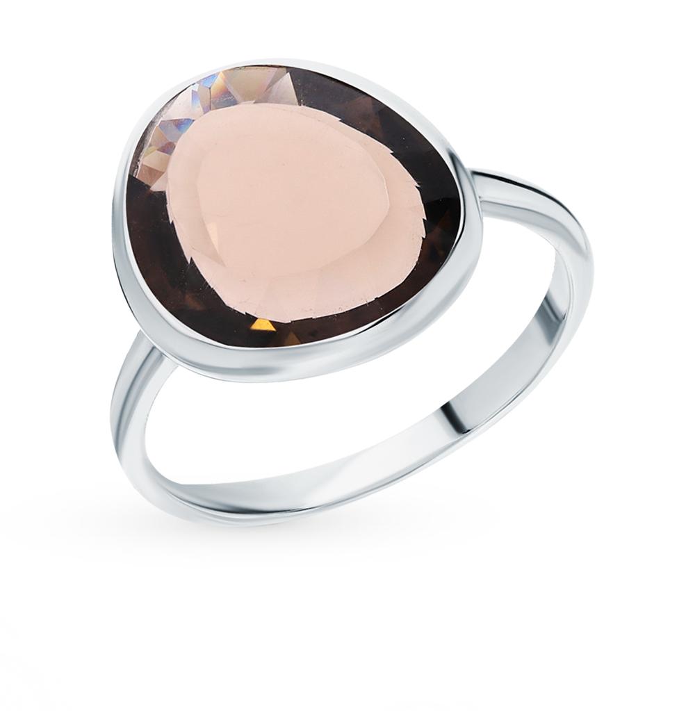 Серебряное кольцо с кварцами дымчатыми в Екатеринбурге
