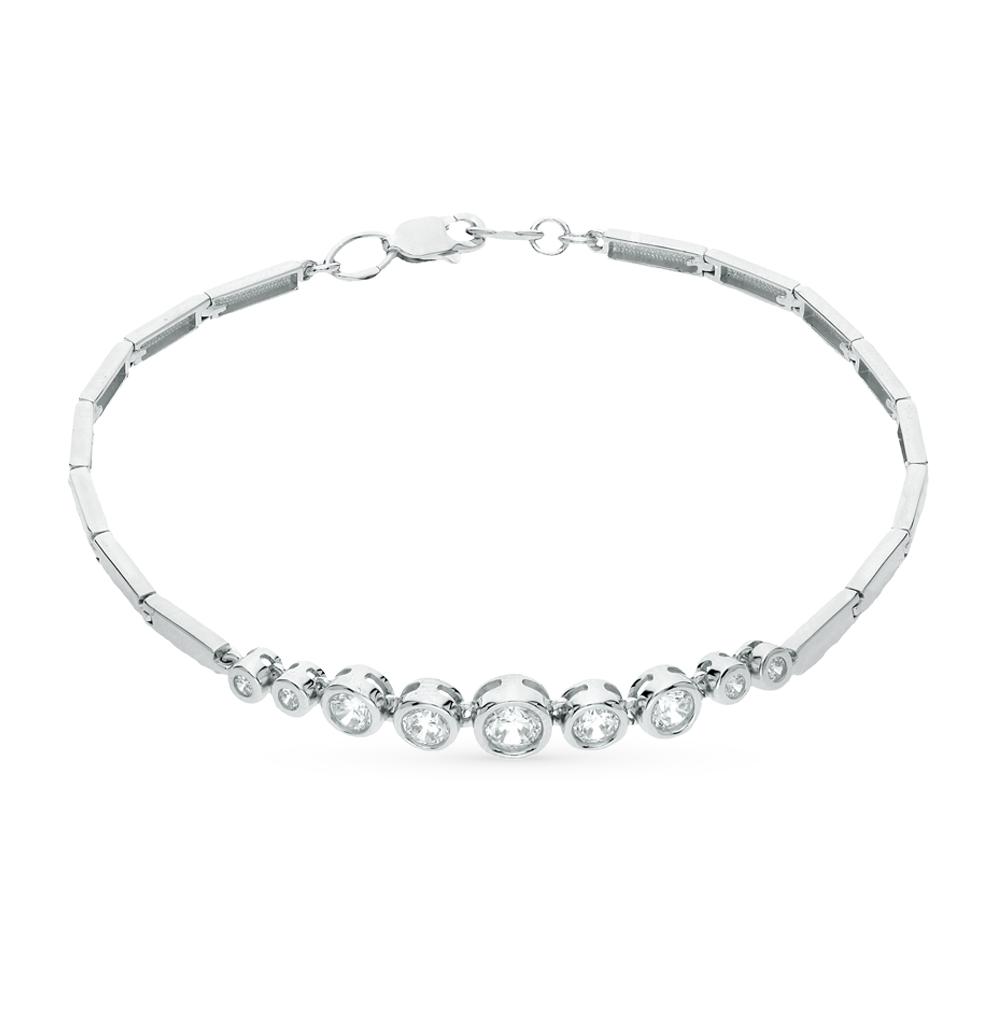 серебряный браслет с фианитами SOKOLOV 94050268