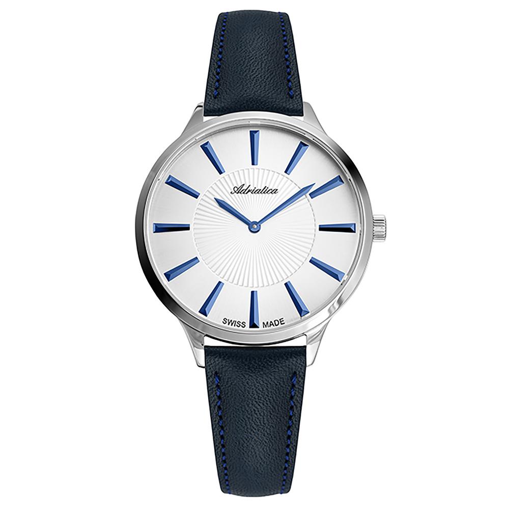 Женские часы A3211.54B3Q на кожаном ремешке с минеральным стеклом