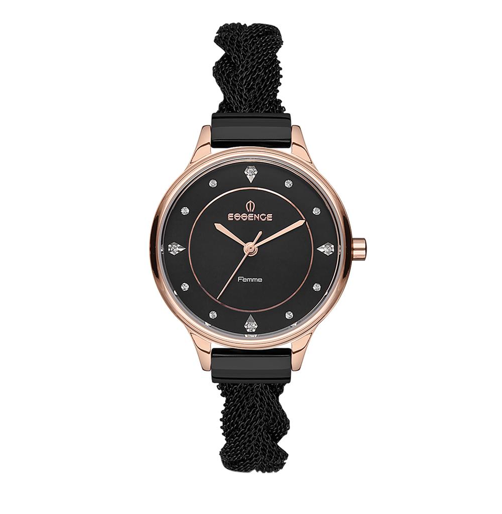 Женские часы D1064.850 на стальном браслете с PVD покрытием с минеральным стеклом