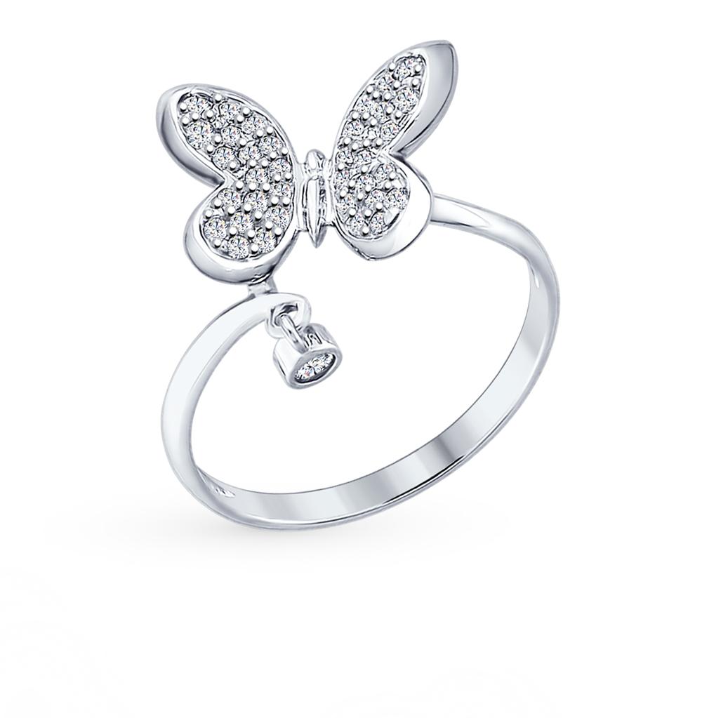 серебряное кольцо с фианитами SOKOLOV 94012305