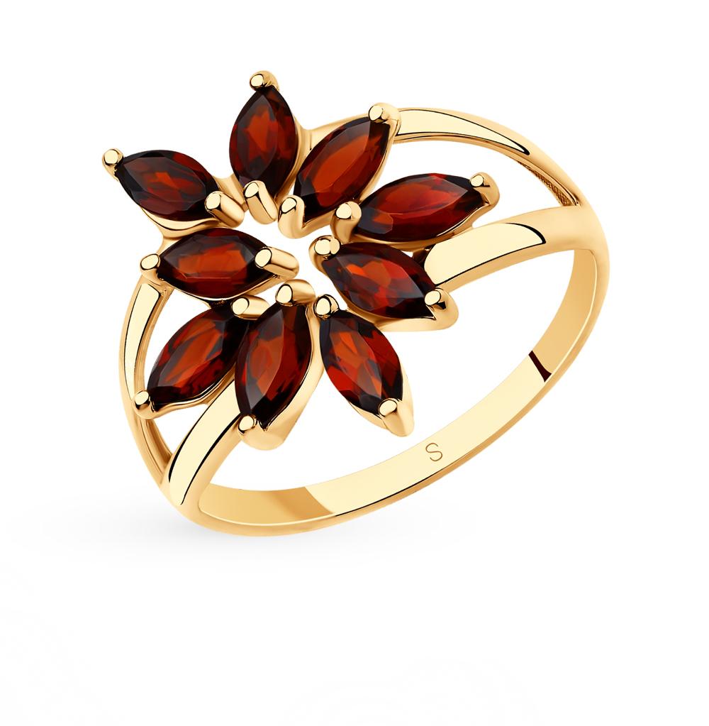 золотое кольцо с агатом SOKOLOV 715688*