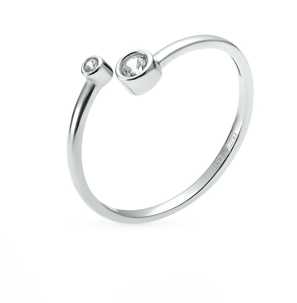 серебряное кольцо с фианитами SOKOLOV 94011463