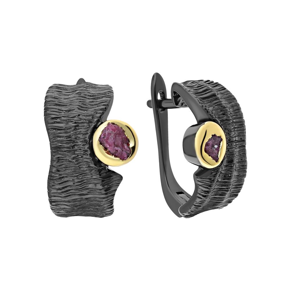 Фото «Серебряные серьги с корундом»
