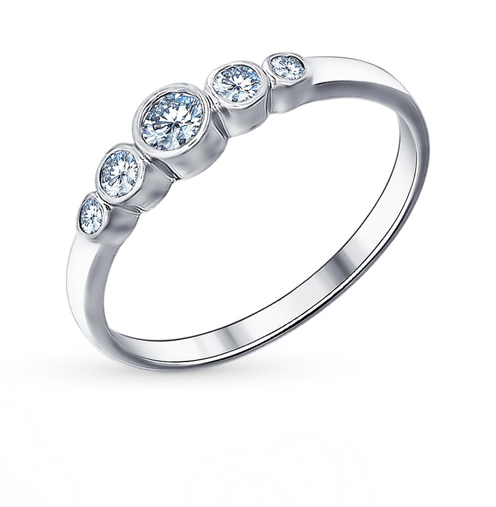 Серебряное кольцо с фианитами SOKOLOV 94011317 в Санкт-Петербурге