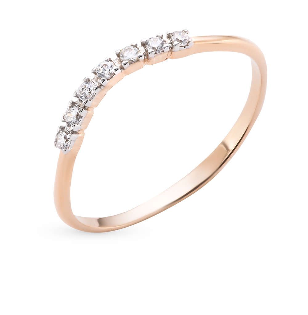 Фото «золотое кольцо с фианитами»