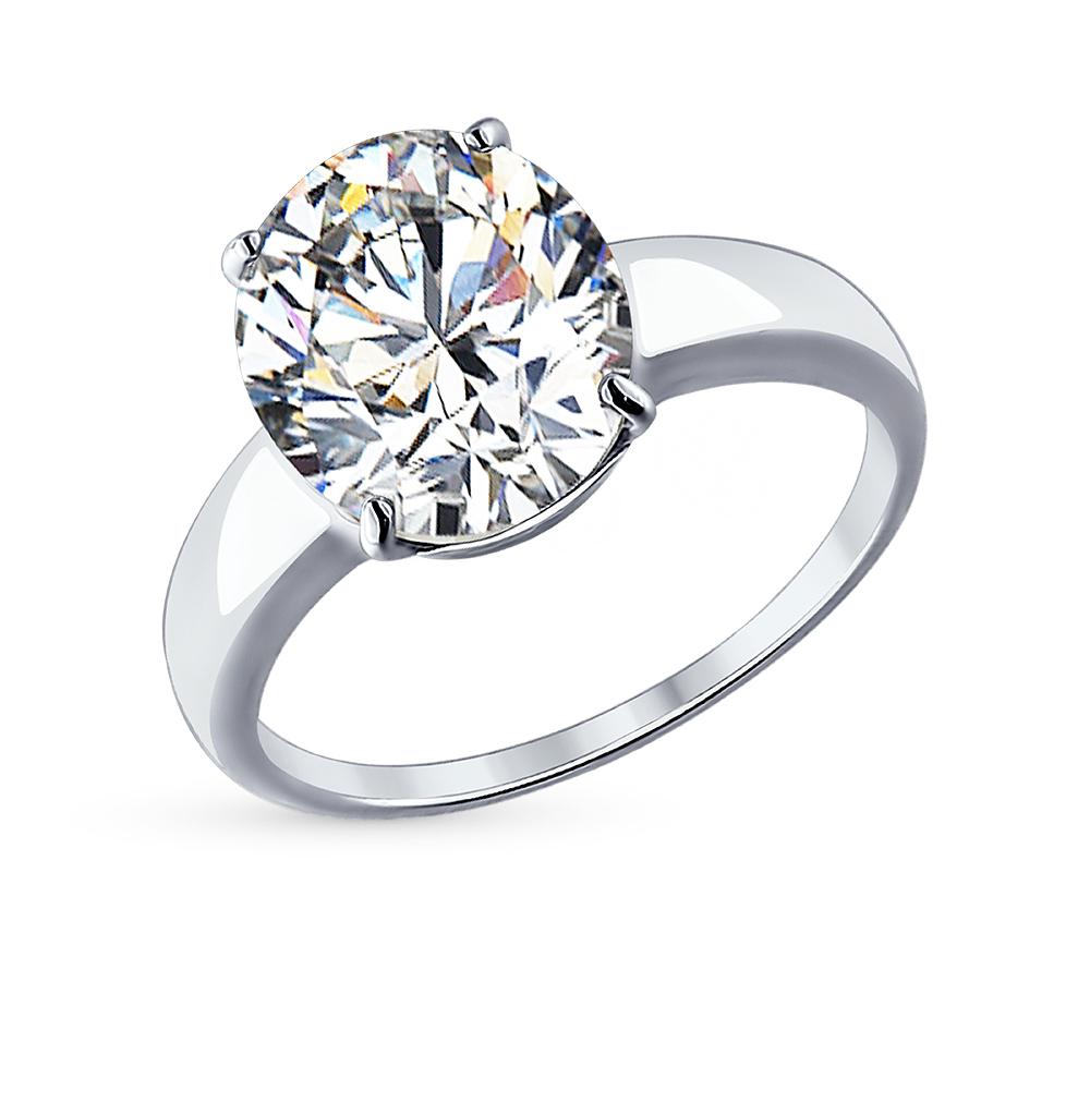 Серебряное кольцо с фианитами SOKOLOV 94012074 в Санкт-Петербурге