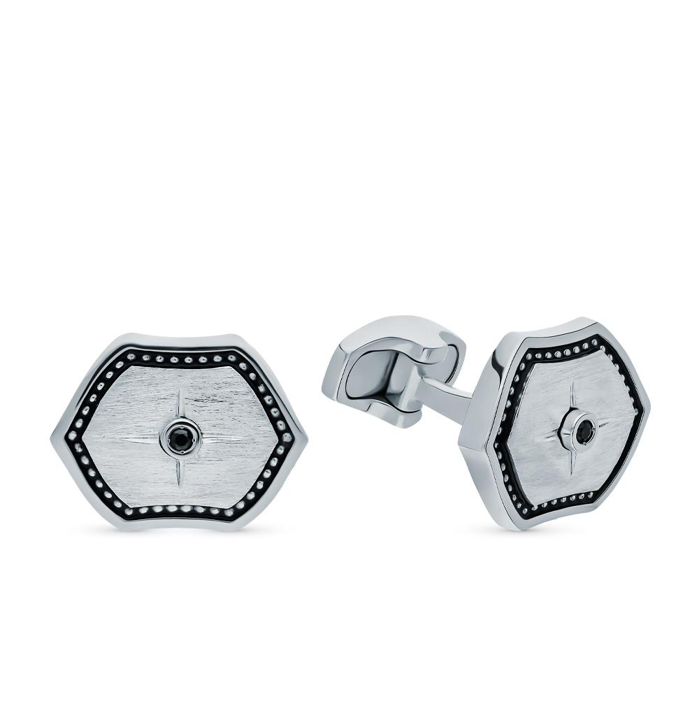 Фото «Серебряные запонки с сапфирами и эмалью»
