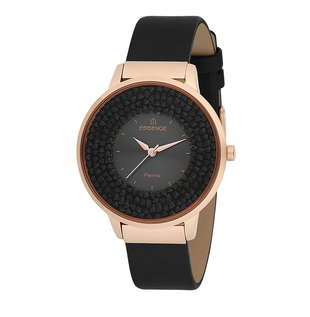 Женские часы D908.451 на кожаном ремешке с минеральным стеклом