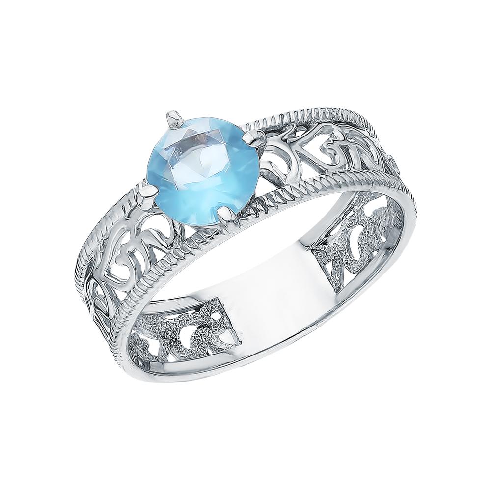 Серебряное кольцо с топазами имитациями в Екатеринбурге