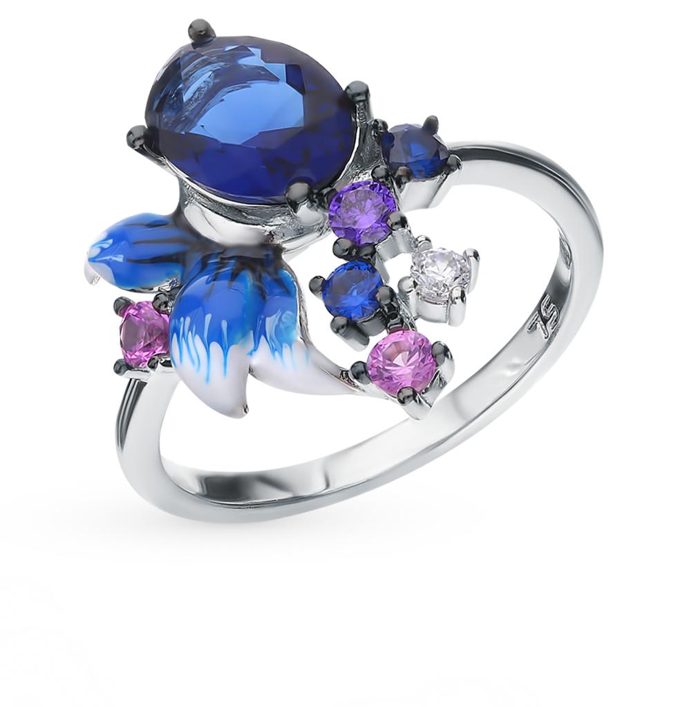 Серебряное кольцо со шпинелью и эмалью в Екатеринбурге
