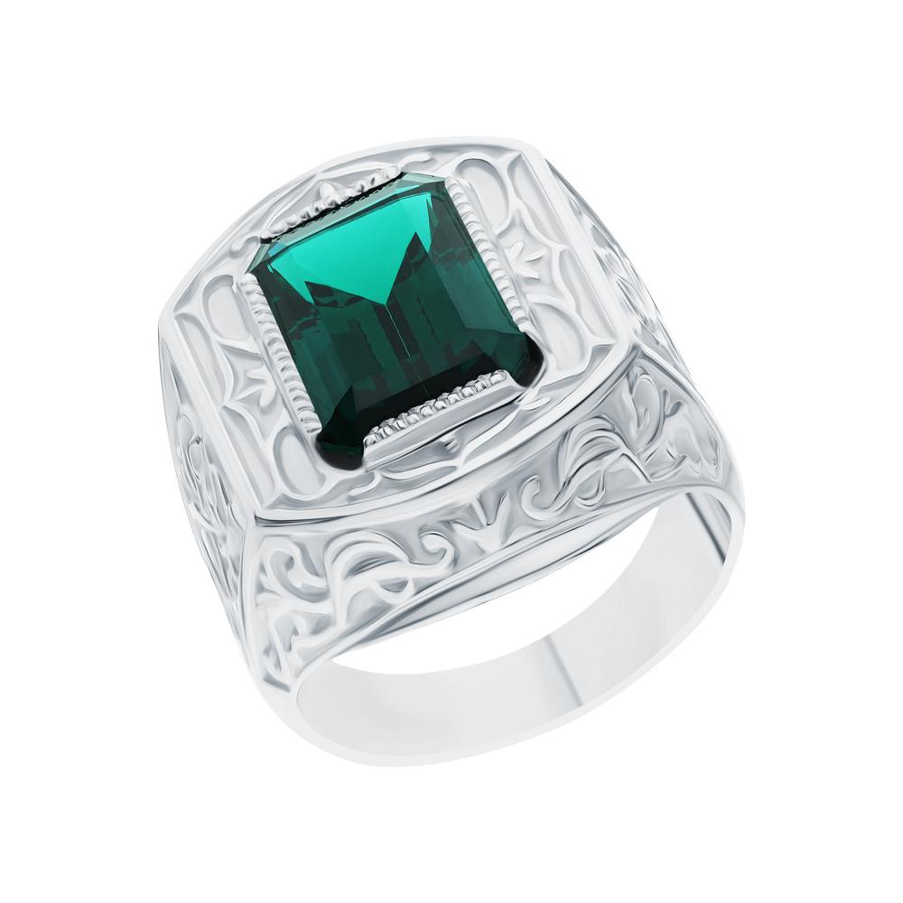Фото «Серебряное кольцо с изумрудами»