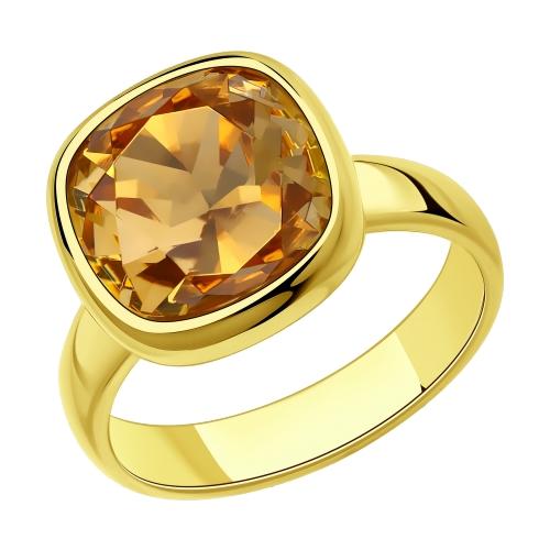 Фото «Серебряное кольцо с кристаллами swarovski SOKOLOV 93010846»