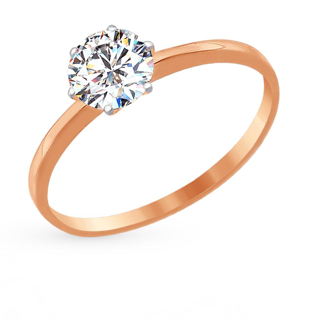 золотое кольцо с фианитами SOKOLOV 016788*