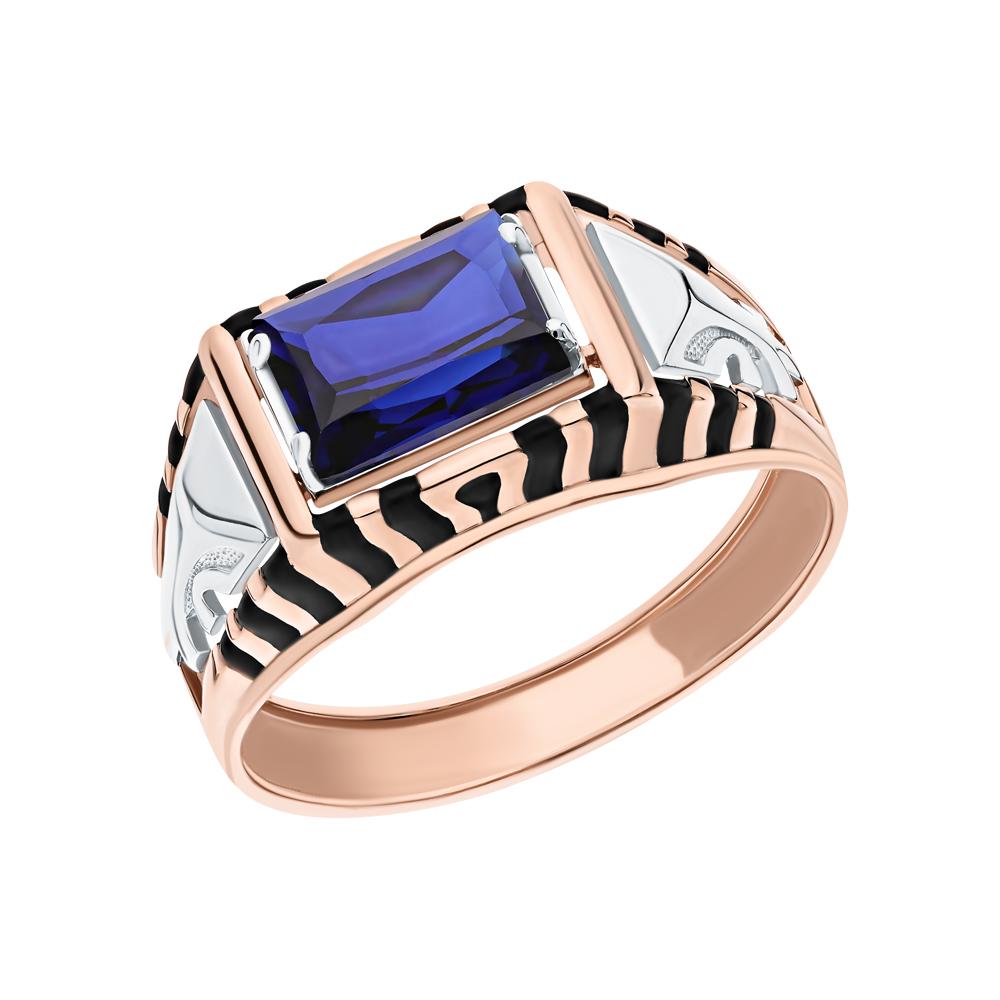 Фото «Золотое кольцо с сапфирами и эмалью»