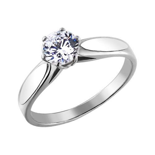 Фото «Серебряное кольцо с фианитами SOKOLOV 94010047»