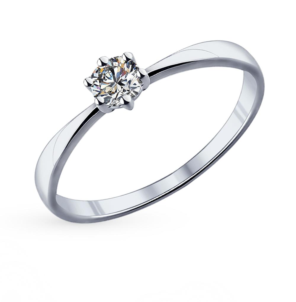 серебряное кольцо с фианитами SOKOLOV 89010020