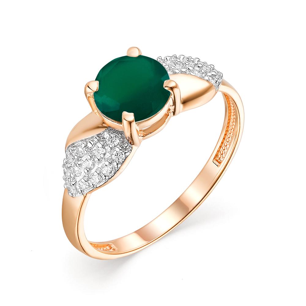Золотое кольцо с ониксом и фианитами в Санкт-Петербурге