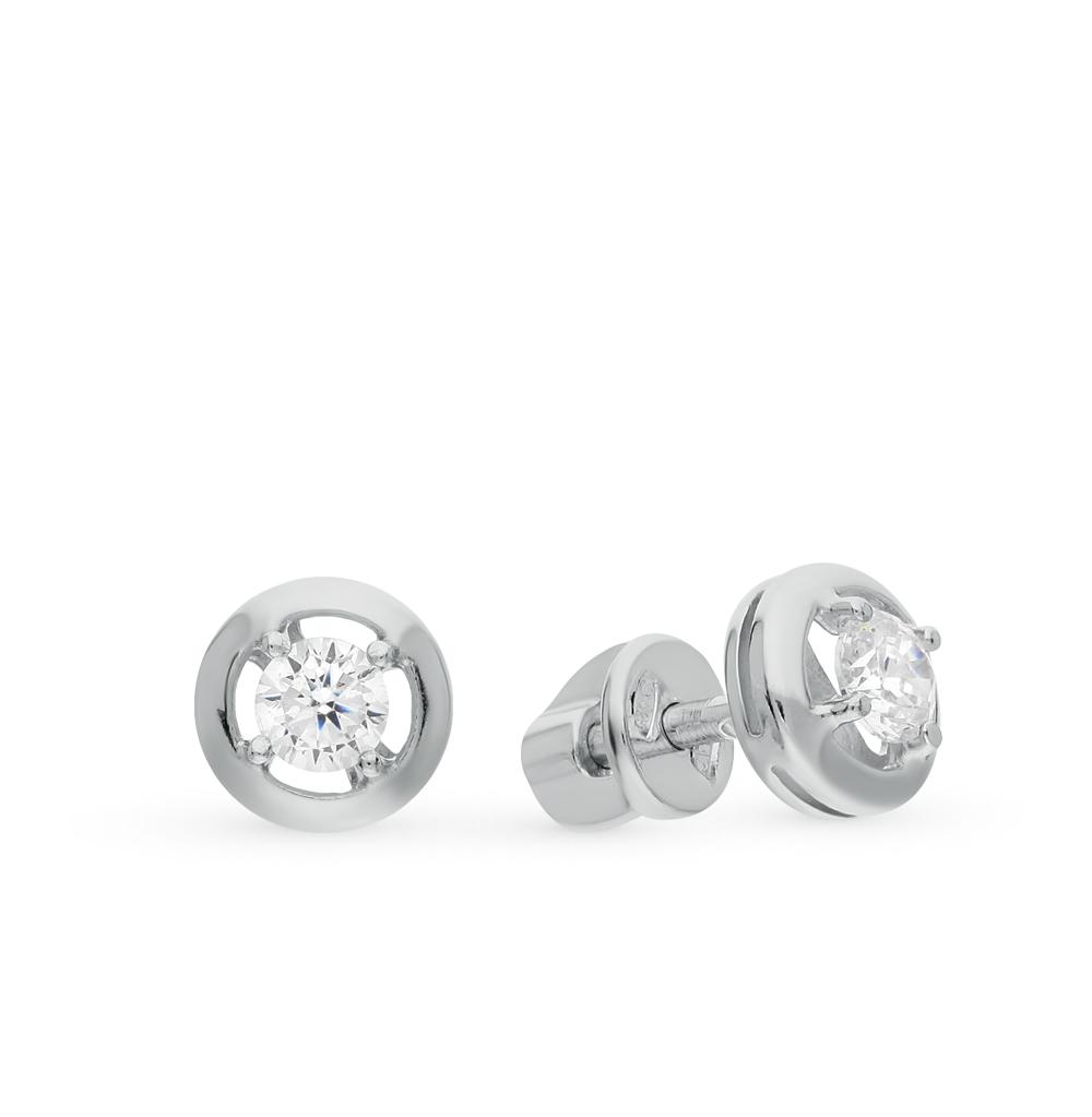 серебряные серьги с фианитами SOKOLOV 94021823