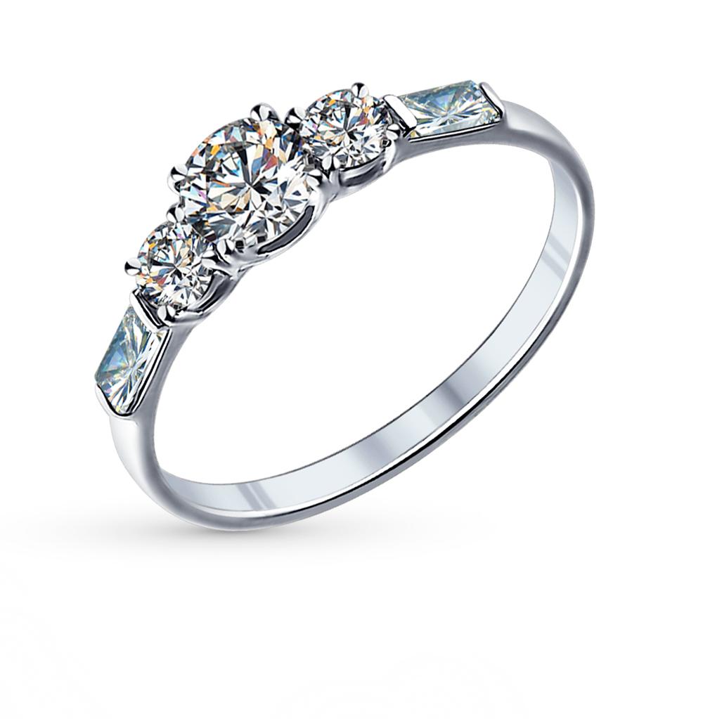 серебряное кольцо с фианитами SOKOLOV 89010007