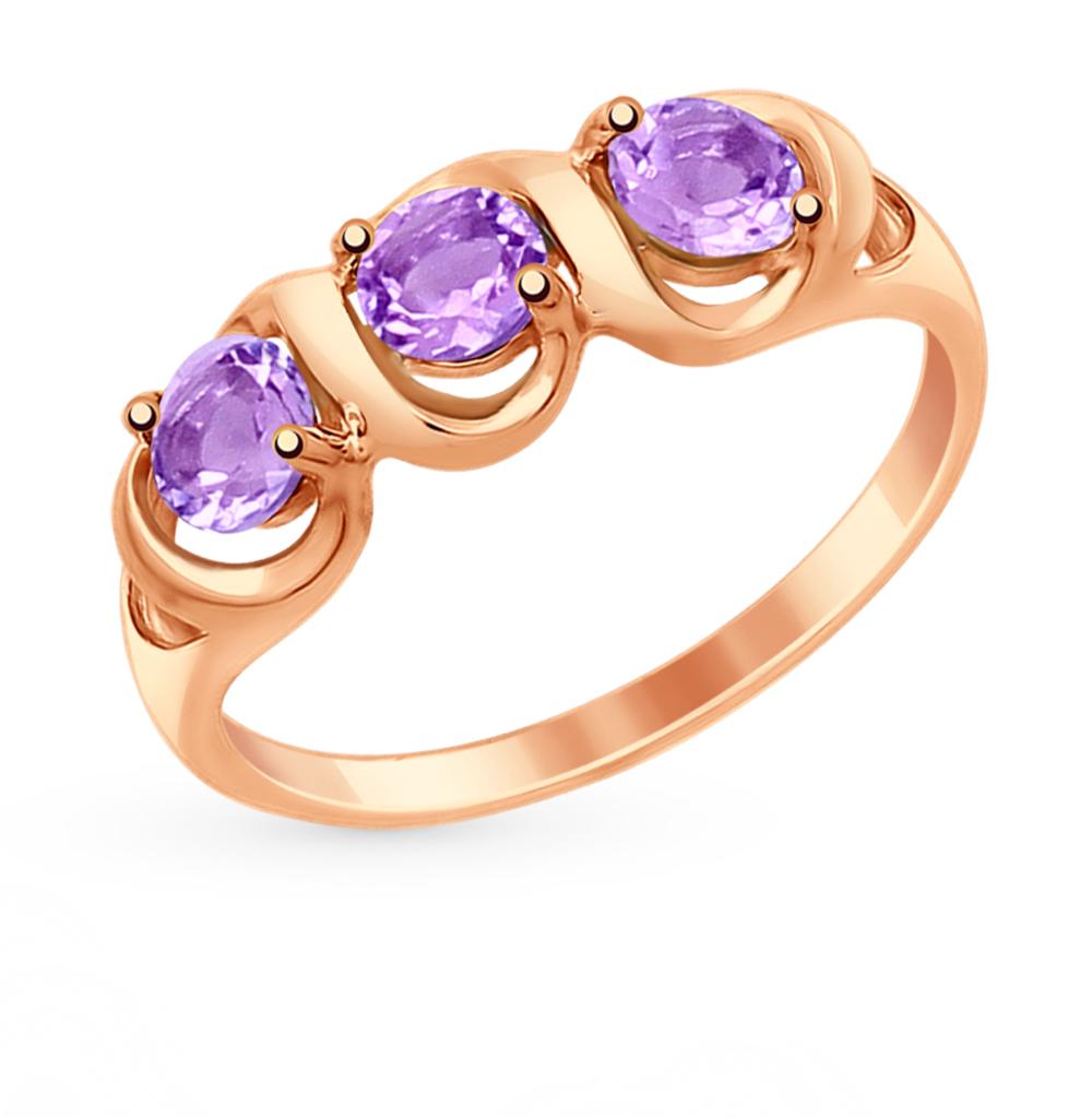 золотое кольцо с аметистом SOKOLOV 714864*