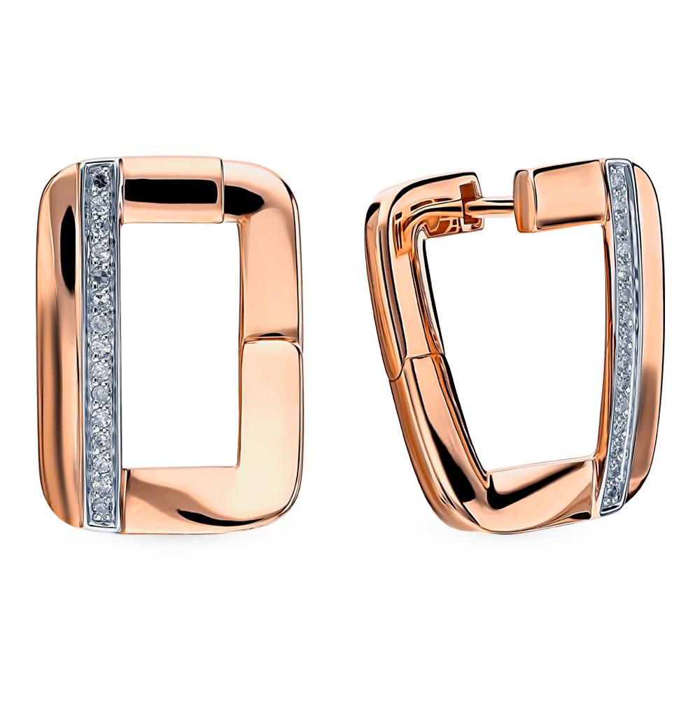 Золотые серьги с бриллиантами SOKOLOV 1021525 в Екатеринбурге
