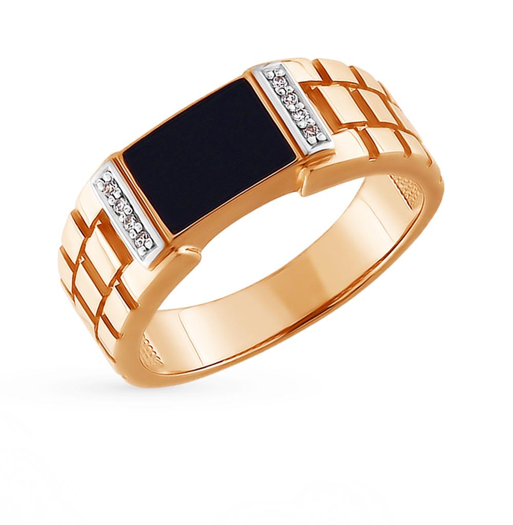 золотое кольцо с фианитами SOKOLOV 015072*