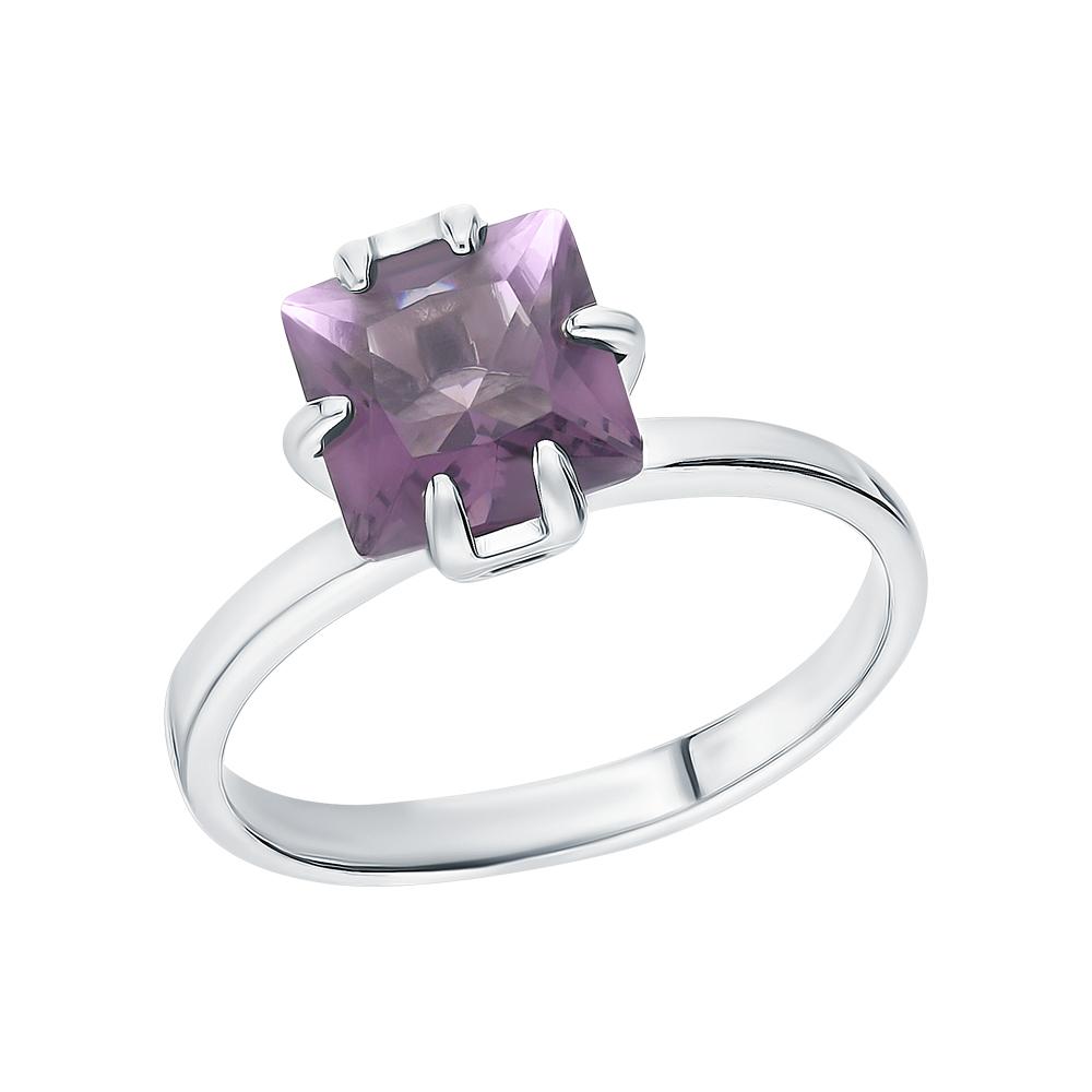 Серебряное кольцо с аметистами синтетическими в Екатеринбурге
