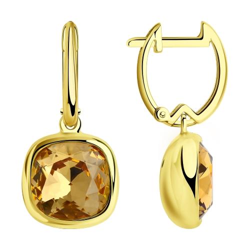 Фото «Серебряные серьги с кристаллами swarovski SOKOLOV 93020994»