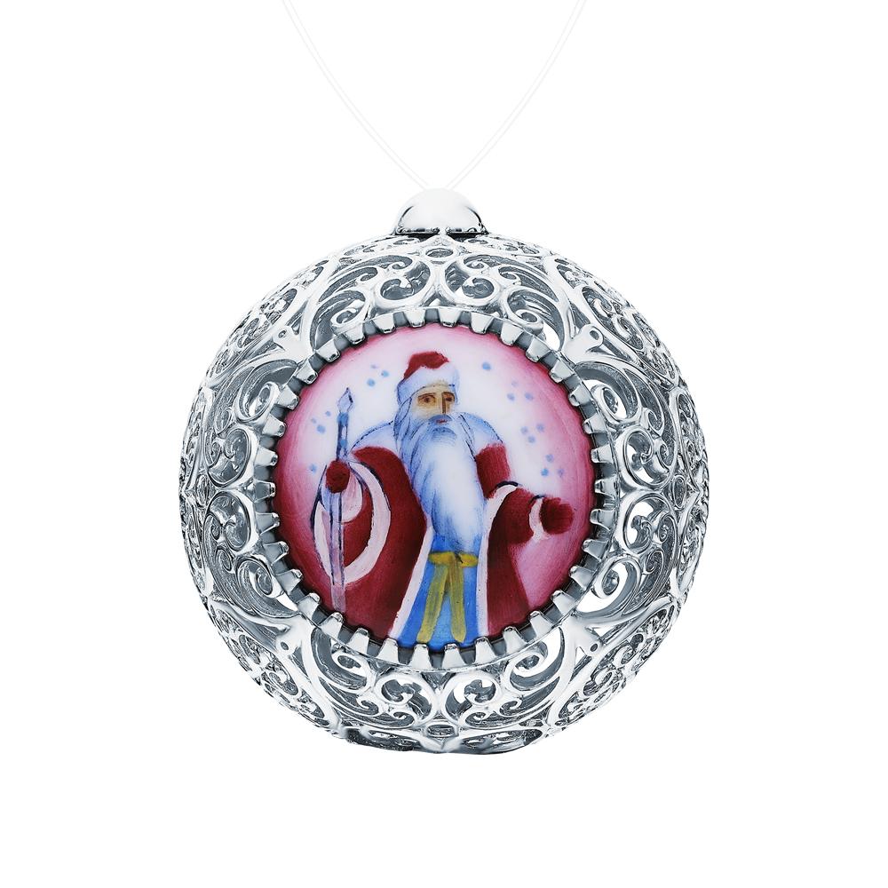 Фото «Серебряное елочное украшение с финифтью»