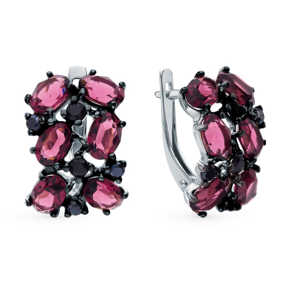 серебряные серьги с фианитами и кристаллами swarovski SOKOLOV 94023045