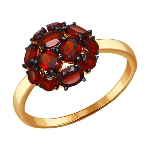 Фото «Золотое кольцо с гранатом SOKOLOV 714096*»