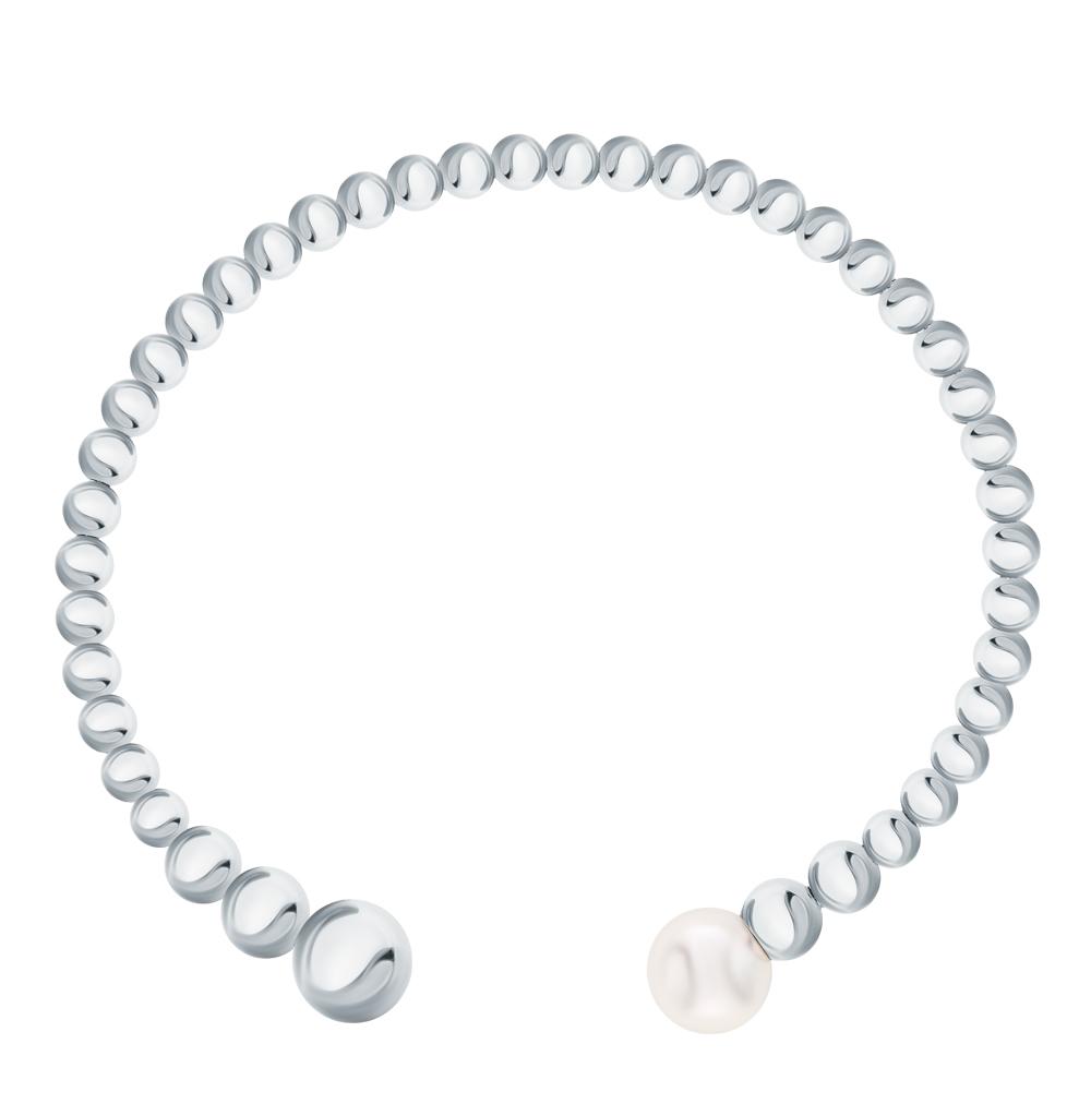 Фото «Серебряный браслет с жемчугами имитациями»