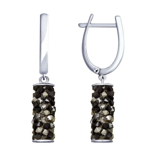 Фото «Серебряные серьги с кристаллами swarovski SOKOLOV 94023182»