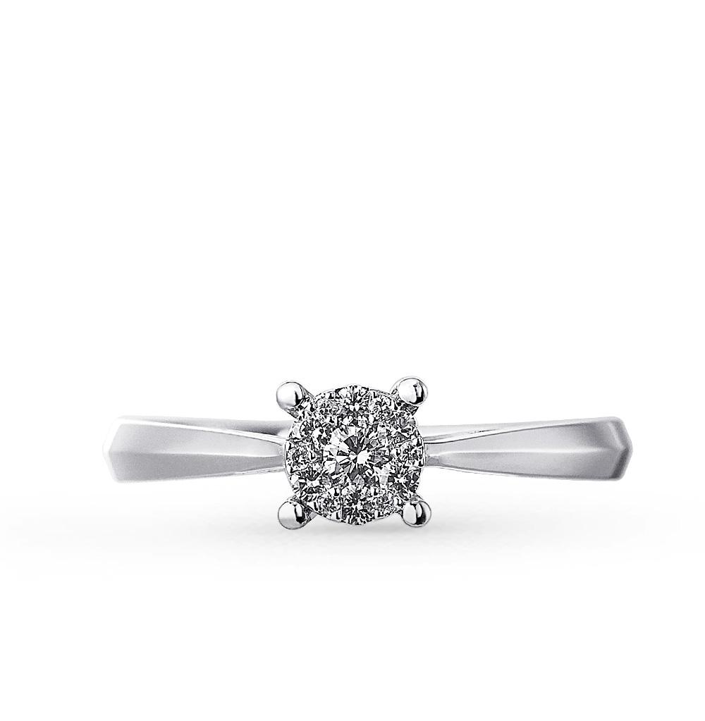 Золотое кольцо SUNLIGHT «Бриллианты Якутии»  белое золото 585 пробы ... d3b1a4106693f