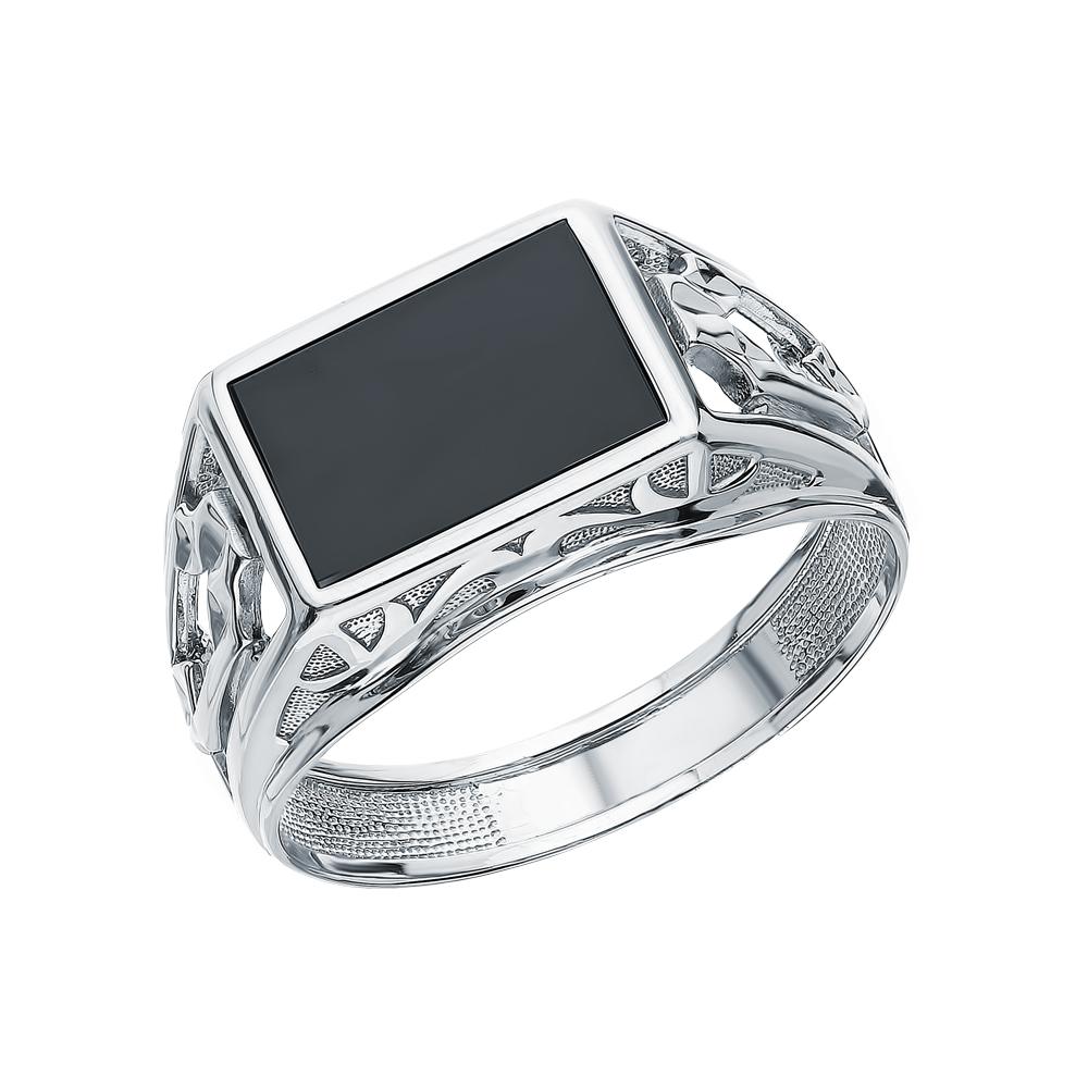 Серебряное кольцо с ониксом в Санкт-Петербурге